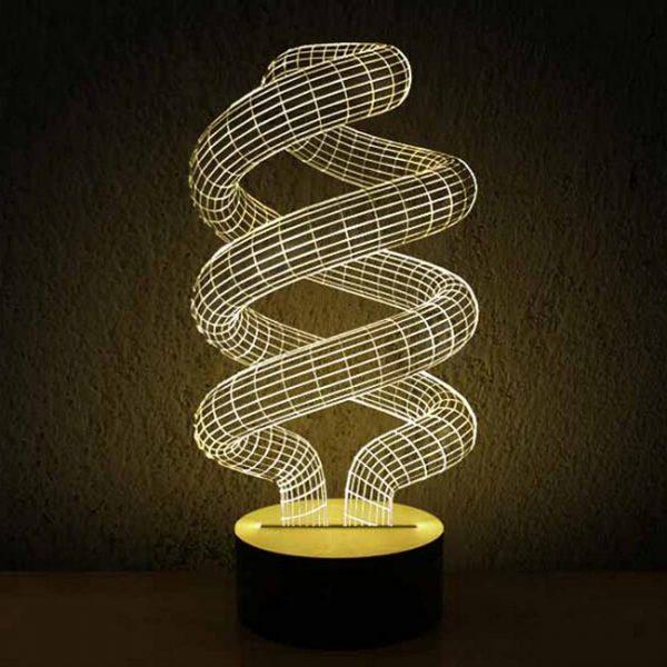 چراغ سه بعدی (طرح لامپ کم مصرف)