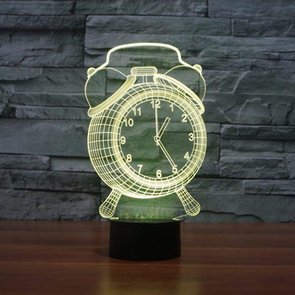 چراغ سه بعدی (طرح ساعت)